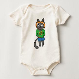 Trendy Katzen-niedlicher Cartoon Baby Strampler