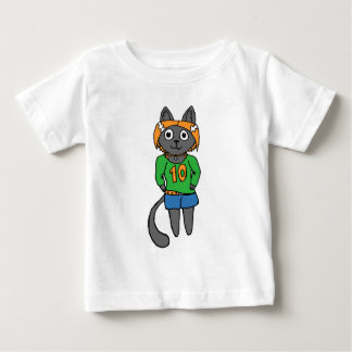 Trendy Katzen-niedlicher Cartoon Baby T-shirt