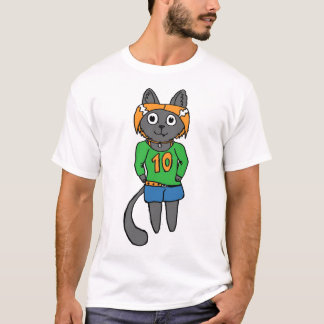 Trendy Katzen-niedlicher Cartoon T-Shirt