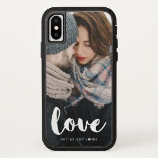 Trendy Liebe-Typografie mit addieren Foto und iPhone X Hülle