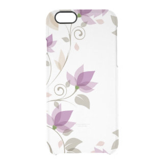 Trendy lila abstraktes Blumen Durchsichtige iPhone 6/6S Hülle