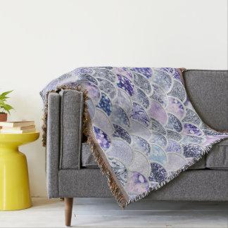 Trendy lila Ombre Decke