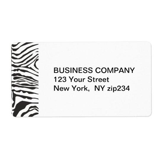 Trendy moderner Zebra-Schwarz-weißes Muster