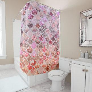 Trendy rosa Ombre Duschvorhang