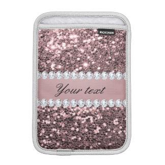 Trendy Rosen-GoldImitat-Glitter und Diamanten iPad Mini Sleeve
