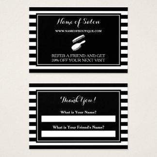 Trendy Schwarz-weißer Jumbo-Visitenkarten