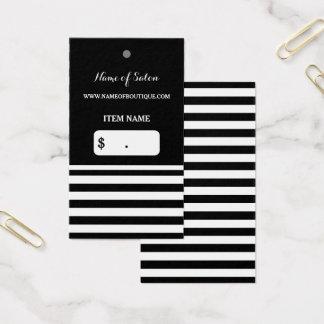 Trendy Schwarz-weißer Visitenkarte