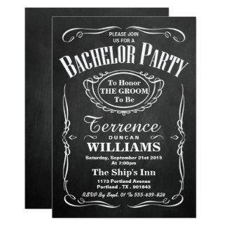 Trendy Tafel-Typografie-Junggeselle-Party 12,7 X 17,8 Cm Einladungskarte
