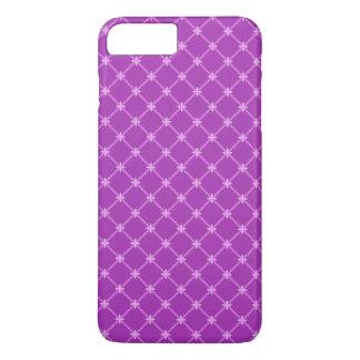 Trendy Traube, lila kreuzweises Muster iPhone 8 Plus/7 Plus Hülle