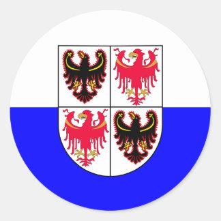 Trentino-Süden Tirol, Italien Flagge Runder Aufkleber