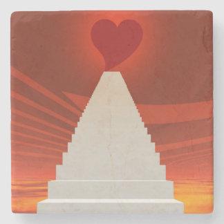 Treppe zur Liebe Steinuntersetzer