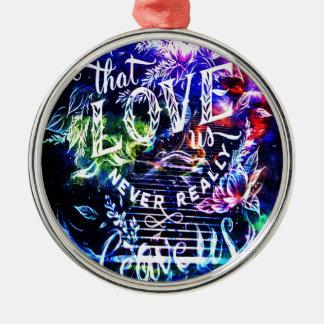 Treppenhaus die diese Liebe wir Rundes Silberfarbenes Ornament