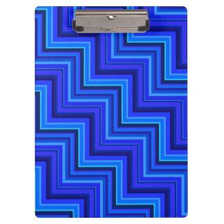 Treppenmuster der blauen Streifen