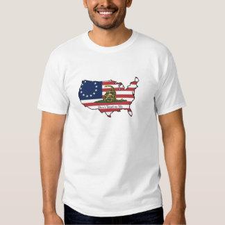 Treten Sie nicht auf mir USA Hemd