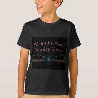 Treten Sie weg Ihre Sonntags-Schuhe T-Shirt