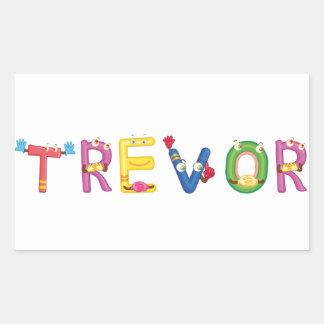 Trevor-Aufkleber Rechteckiger Aufkleber