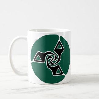Tri Pfeil-Logo (Immergrün) Kaffeetasse