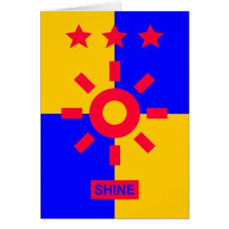 Tri Stella-Stärke - Glanz Karte