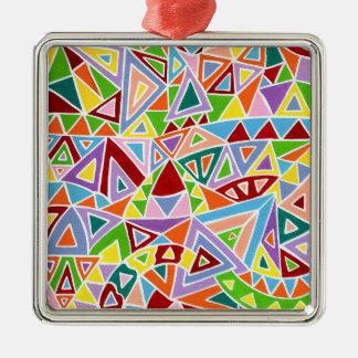 Triangulation Silbernes Ornament