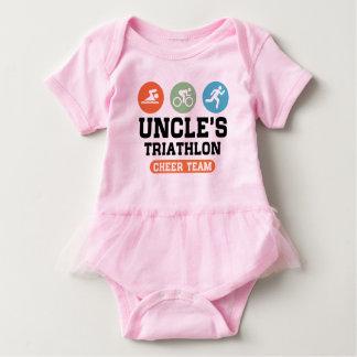 Triathlon Cheer Team Onkels Baby Strampler