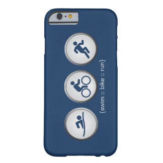 Triathlon Schwimmen-Fahrrad-Geführter iPhone 6 Barely There iPhone 6 Hülle