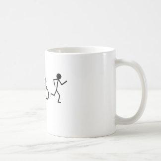 Triathlon-Strichmännchen Tasse