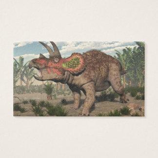 Triceratopsdinosaurier - 3D übertragen Visitenkarte