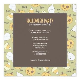 Trick-LeckereiBoo!   Halloween-Party-Einladungen Karte