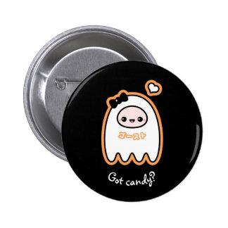 Trick-oder Leckerei-Geist Runder Button 5,7 Cm