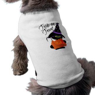 Trick-oder Leckerei-Haustier-T - Shirt