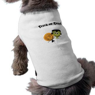 Trick oder Leckerei lolli Pop Haustier-T - Shirt