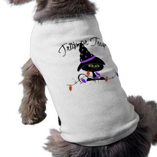 Trick-oder Leckerei-schwarze Katzen-T - Shirt