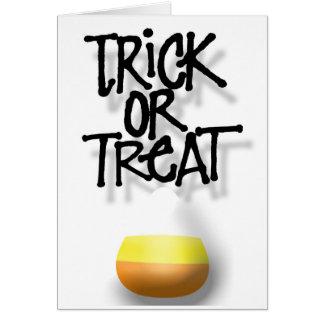 Trick-oder Leckerei-Süßigkeit Karte