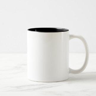 Trick sich mit Kaffee Zweifarbige Tasse