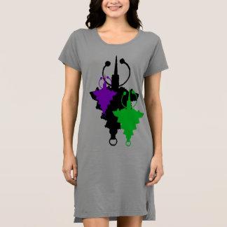 Tricolor Wadenbein-Kleid Kleid