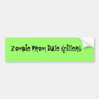 Tricoteuses de date de bal d'étudiants de zombi autocollant de voiture