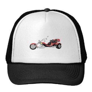 tricycle rouge de moto casquettes de camionneur