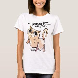 Trident das Katzen-Charakter-T-Stück 01 T-Shirt