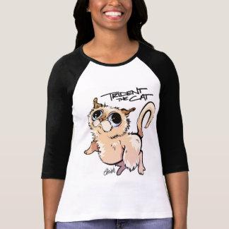 Trident der HülseRaglan 01 der Katzen-3/4 T-Shirt