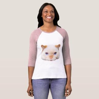Trident der Katzen-Baseball-T - Shirt