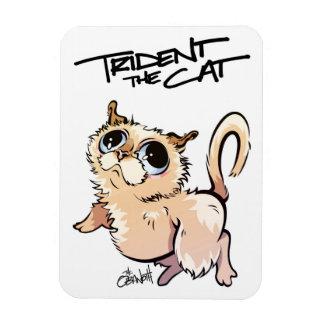 Trident der Katzen-illustrierte Magnet 01