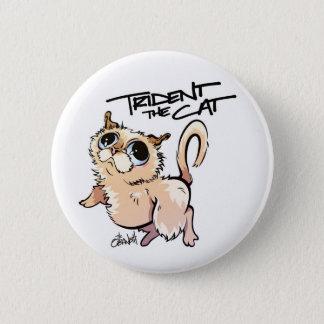 Trident der Katzen-Standard-Knopf Runder Button 5,1 Cm