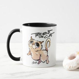 Trident die Katzen-illustrierte Kaffee-Tasse 01 Tasse