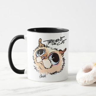 Trident die Katzen-illustrierte Kaffee-Tasse 02 Tasse