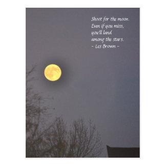 Trieb für den Mond Postkarte