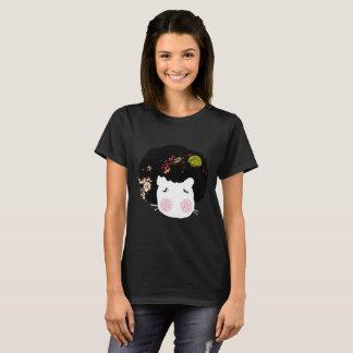 Trifft Puppe Flusspferd TierAfroHair T-Shirt