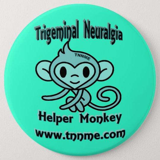 Trigeminalneuralgia-Helfer-AffePin. Runder Button 15,3 Cm