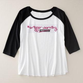 Triggerwarnung durch Aleta Große Größe Raglan T-Shirt