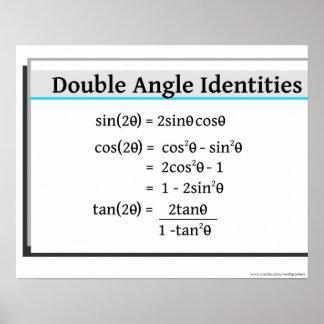 Trigonometrie-Plakat: Doppelte Winkel-Identitäten Poster