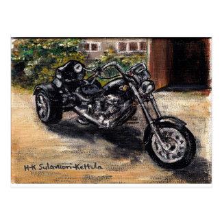 Trike Motorrad Postkarte